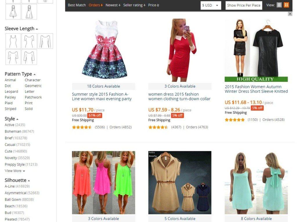 Ako vyhľadávať tovar na Aliexpress