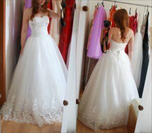 Svadobné šaty z Aliexpress