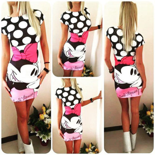 Mickey Mouse saty Minnie ruzove