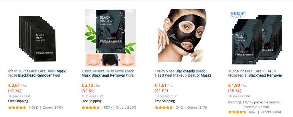 Aliexpress vs zlavove portaly nakupovanie zlava dna cierna maska SK 2