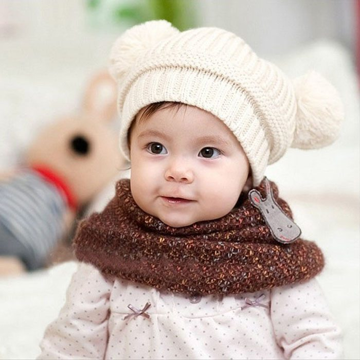 Knitting Topi Baby : Newborn baby photography props cute kids girl boy