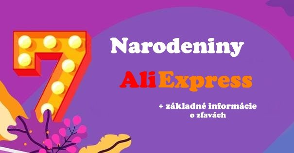 Narodeniny aliexpress 7t birthday aniversary SR