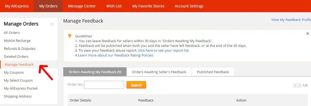 Ako napísať feedback hodnotenie na zbozi Aliexpress 3