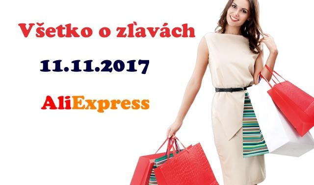 Aliexpress 11.11.2017 zlavy sale SK