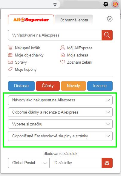 Aliexpress superstar nastavenie funkcii navody