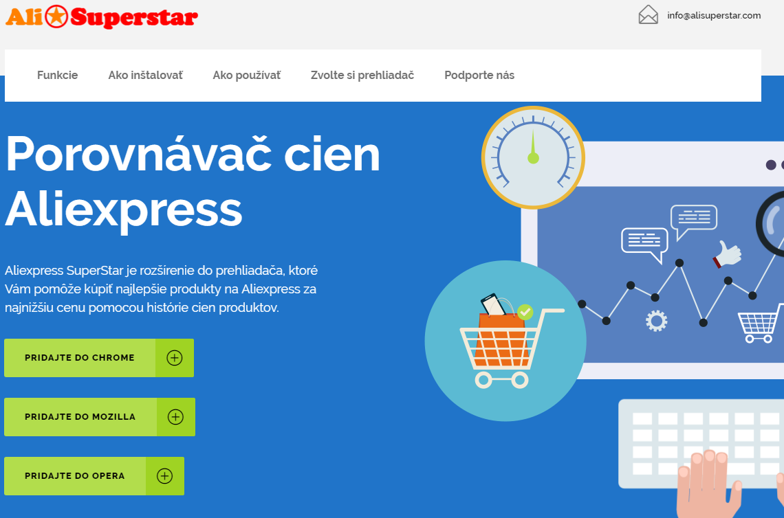 Mozilla Firefox instalacia Aliexpress Superstar SK 1