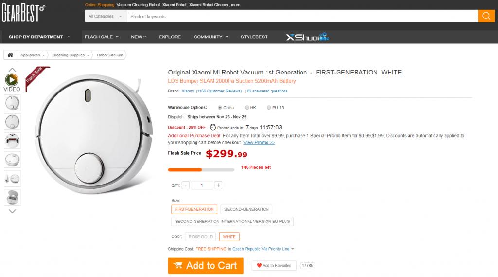 GearBest Xiaomi Mi roboticky vysavac Roomba review2