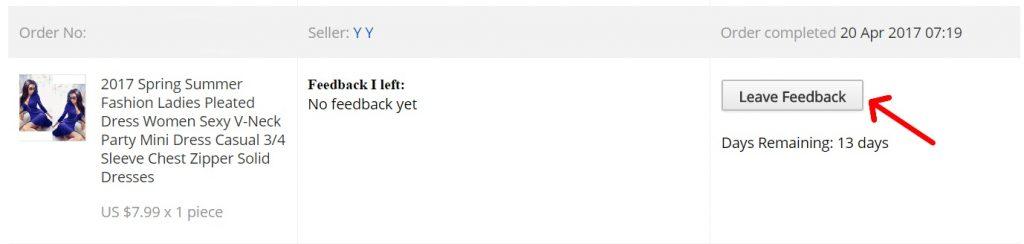 Jak napsat feedback hodnoceni na zbozi Aliexpress 2