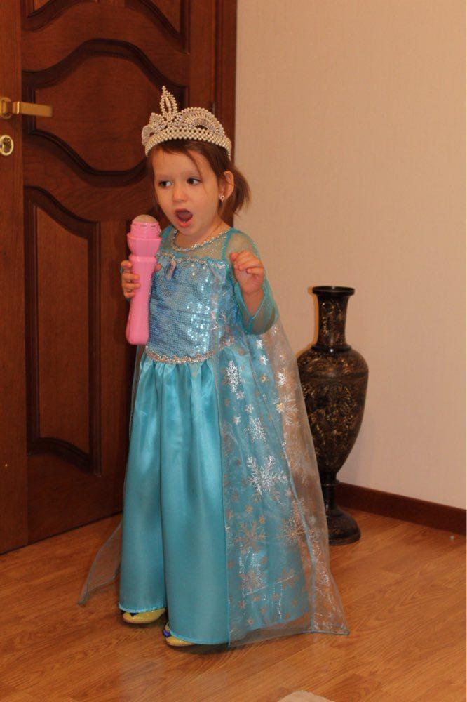 Kostym Anna Elsa Ledove kralovstvi levne detske obleceni Aliexpress realne foto