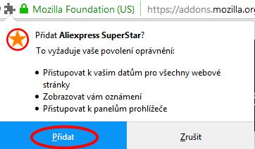 Mozilla Firefox instalace Aliexpress Superstar 3c