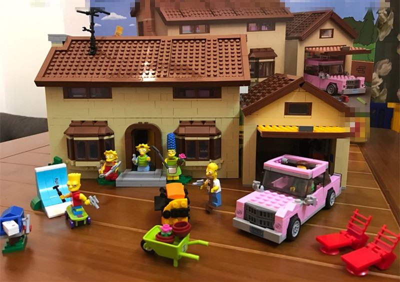 Simpsonovi Aliexpress lego blocks stavebnice