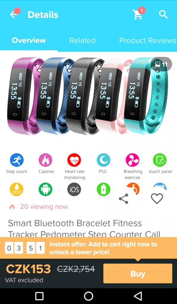wish fitness hodinky