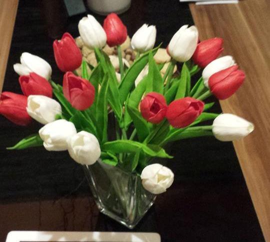 Plastova dekorace umele kytky 10