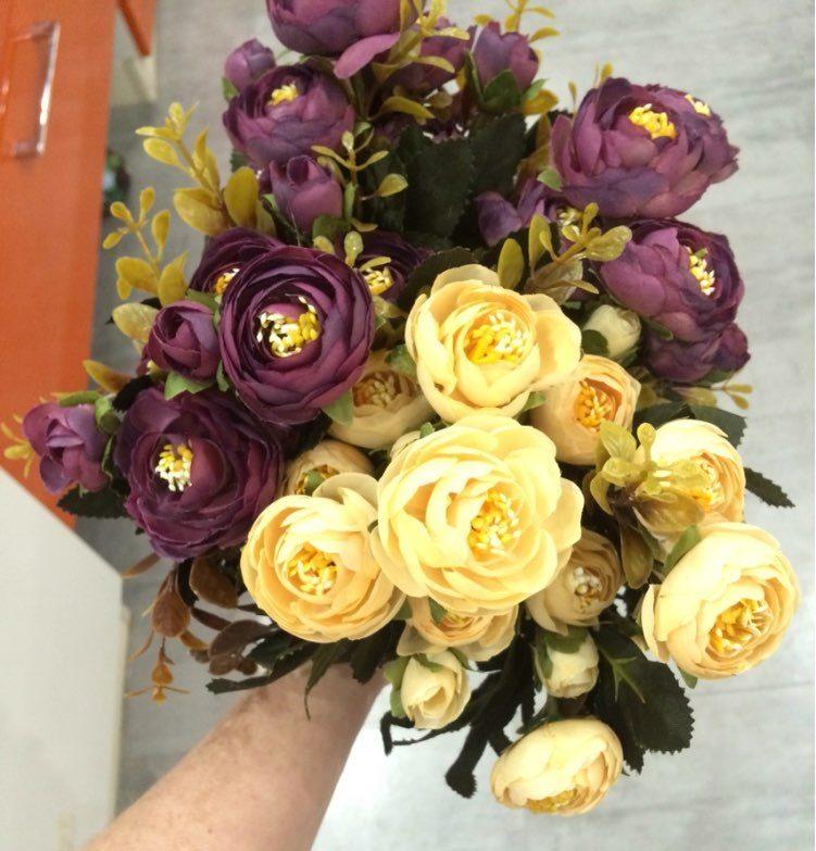 Plastova dekorace umele kytky 2