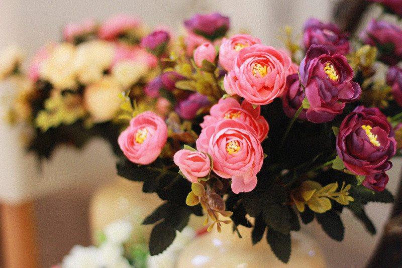 Plastova dekorace umele kytky 3