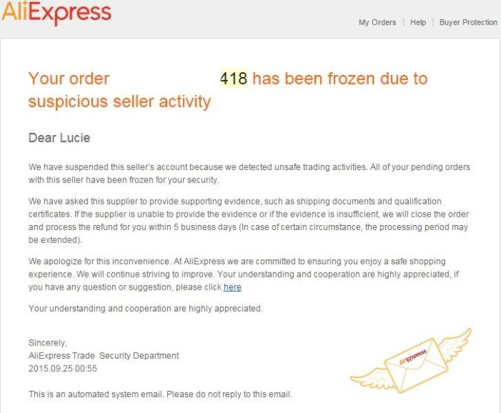 Zmrazena objednavka Frozen order