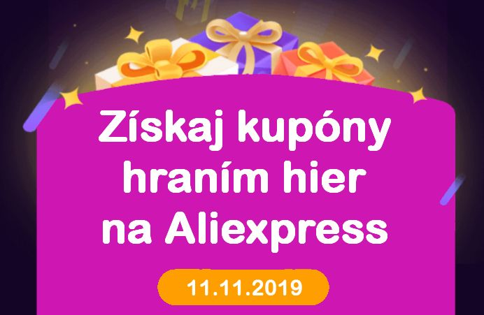 Aliexpress day 11.11.2019 Money hop hry cina SK web