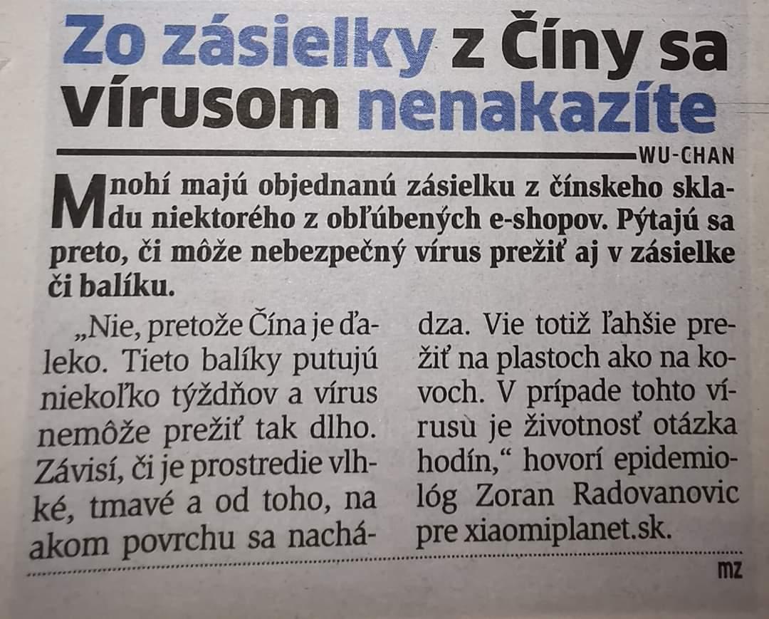 Koronavirus Aliexpress nakaza Cina balicek 2