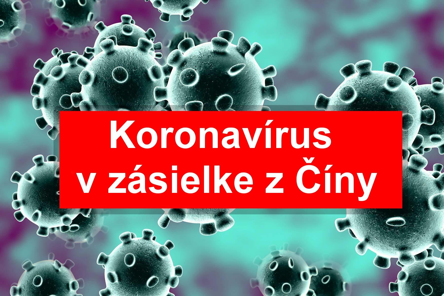 Koronavirus aliexpress nakaza balicek china cina SK