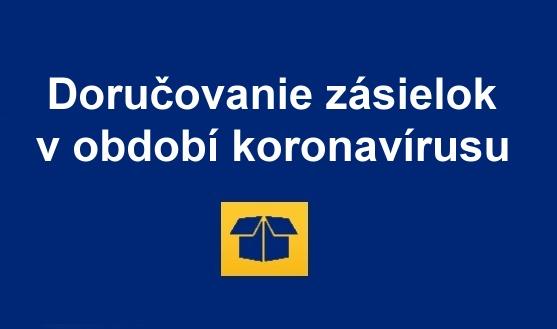Slovenska posta koronavirus COVID 19 dorcovanie zasielok SK newsletter