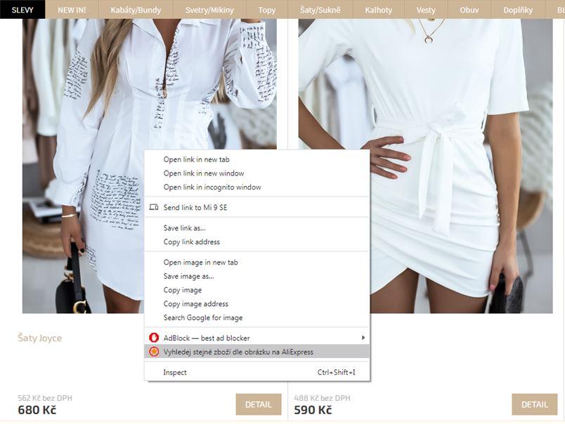 Vyhledavani podle obrazku Aliexpress kosile damske saty fashion