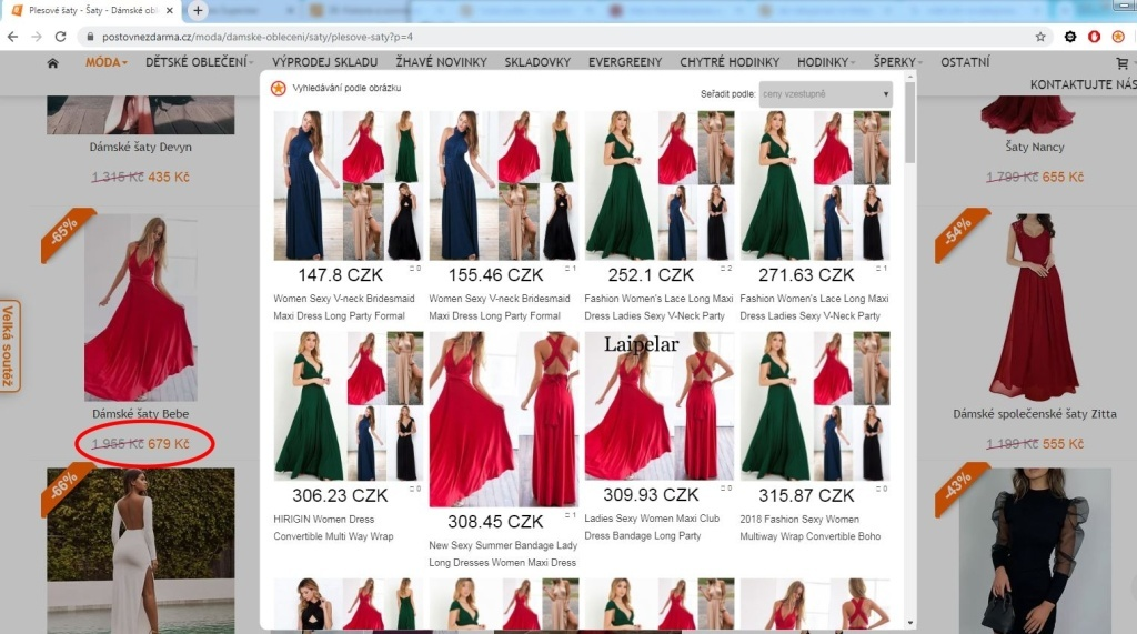 Vyhledavani podle obrazku Aliexpress postovne zdarma saty boho vyhledat