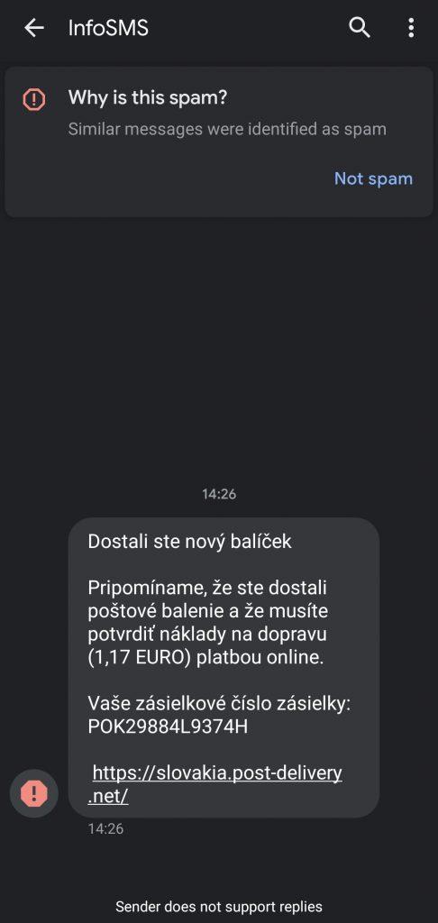 Podvodne emaily od Ceske Slovenske posty priklad