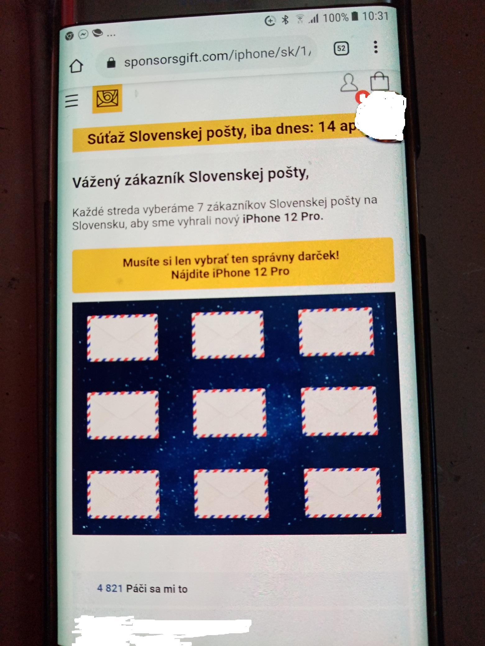 SMS podvodna slovenska posta ceska spam